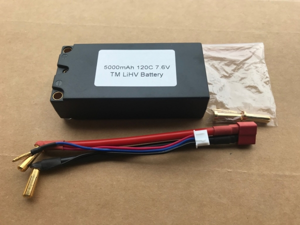 High Volt LiPO 7.6V 120C 5000mAh Shorty Pack for Competition Racing