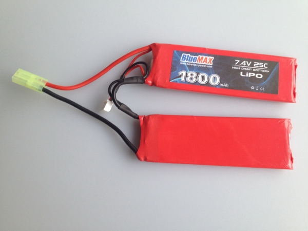 7.4v 1800mAh 25C LiPO Airsoft Battery Butterfly Type