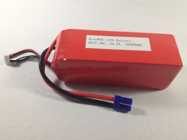 10,000mAh 6S1P 22.2V 20C LiPO battery for DJI multicopter