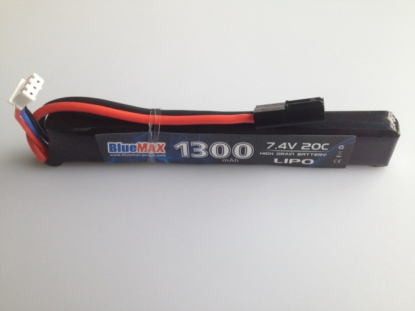 7.4V 1300mAh 20C Airsoft Battery Stick Type