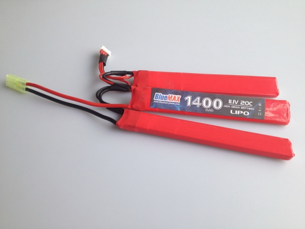 11.1V 1400mAh 20C LiPO Crane Stock Battery (Tri-Panel)